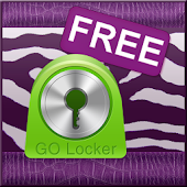 GO Locker Violet Zebra Theme