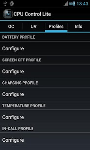 CPU Control Lite - screenshot thumbnail