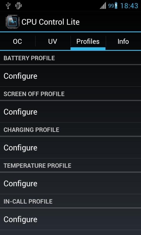 CPU Control Lite - screenshot
