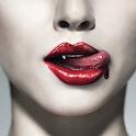 Vampire in 3D logo