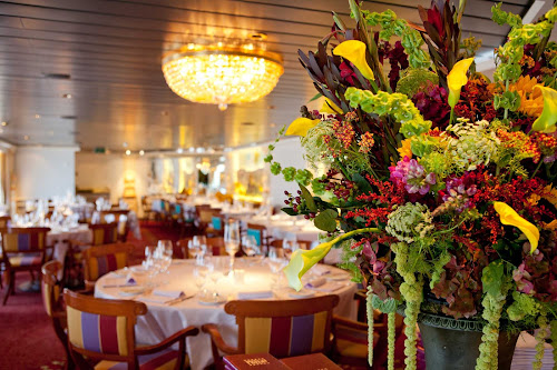 Restaurant options range from the super-casual to more upscale eateries such as Crystal Cruises' Prego.