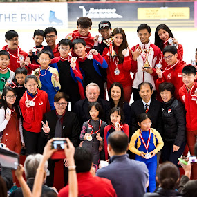 Prize presentation at Singapore Speed Skating Nationals 2014 by Foo Fok - People Group/Corporate