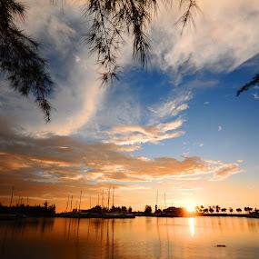 Marina Bay by Naising Bega - Landscapes Sunsets & Sunrises ( miri sarawak, sunset, marina bay )