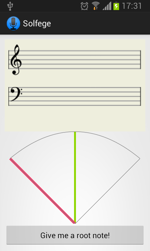 Solfege- screenshot
