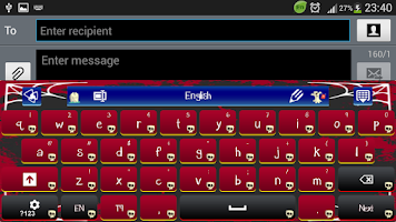 Screenshot of GO Keyboard Scary Monster