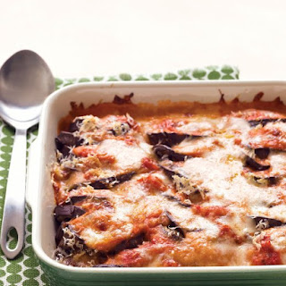 Lighter Eggplant Parmesan.
