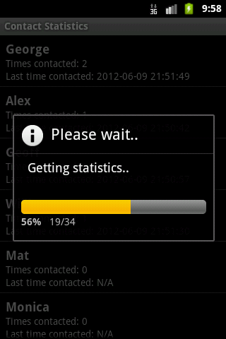 Contact Statistics Full- screenshot