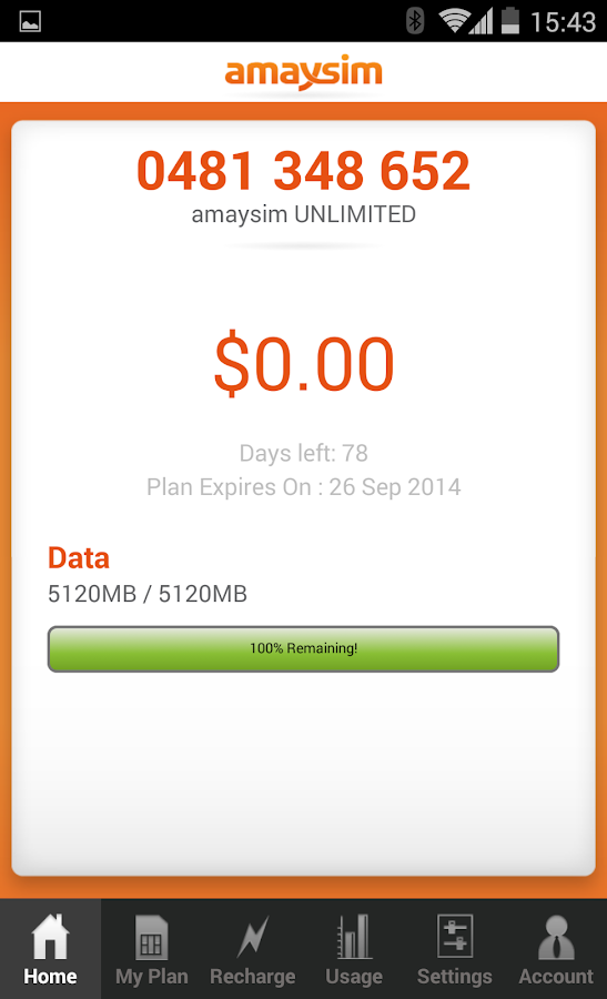 amaysim - screenshot