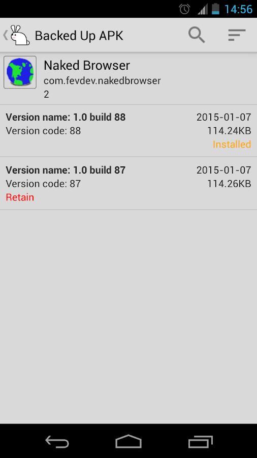 AppWererabbit Backup - screenshot