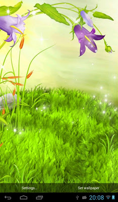 The sparkling flowers - screenshot
