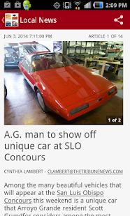 San Luis Obispo Tribune news- screenshot thumbnail