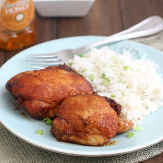 Spicy Honey-Brushed Chicken Thighs.