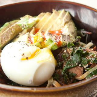 Greens and Ham Breakfast Bowl Recipe