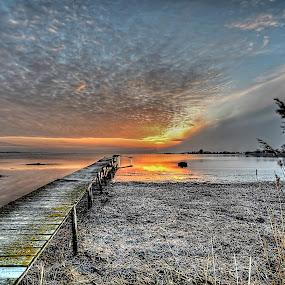 Sunset at Sletnæs by Kim  Schou - Landscapes Sunsets & Sunrises ( kim schou, hdr, nakskov fjord, sletnæs )