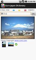 Screenshot of Euro-Japan dictionary