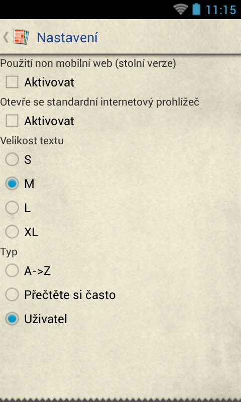 České Noviny - screenshot