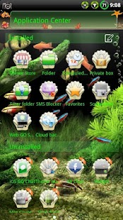Aquarium GO SMS Theme- screenshot thumbnail