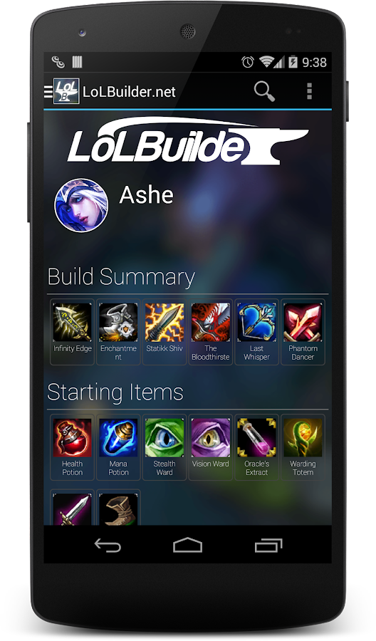 LoLBuilder.net Diamond Builds- screenshot