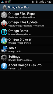 Omega Files Pro Screenshot
