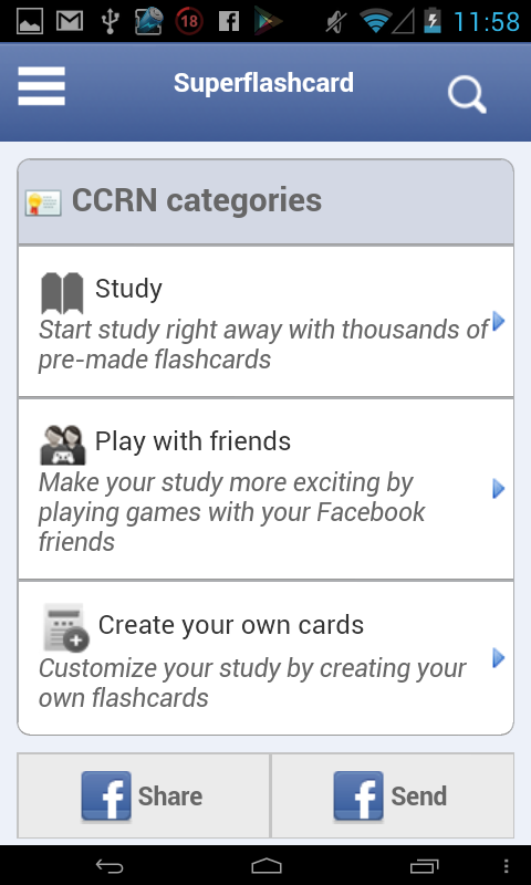 CCRN Flashcards - screenshot