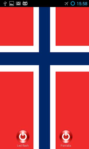 Lantern flash screen Norway