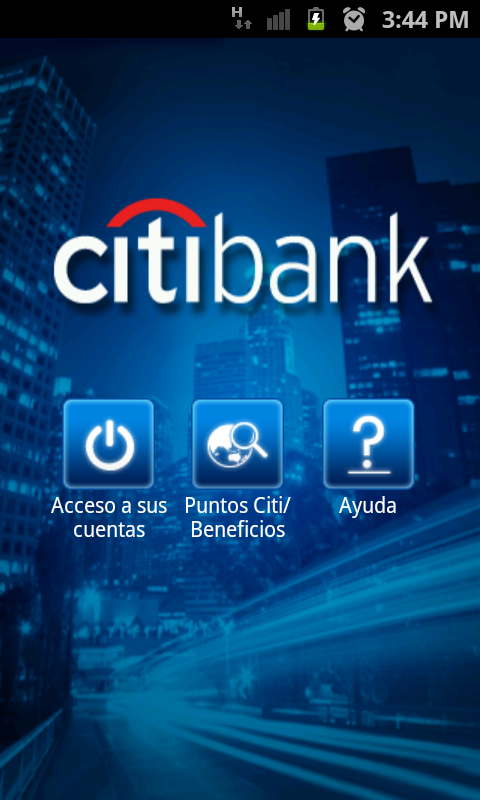 CitiMobile VE - screenshot