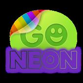Purple neon theme GO SMS Pro