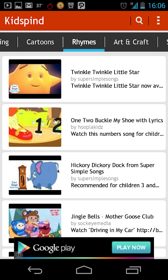 Kids Pind: Kids Videos, Rhymes - screenshot