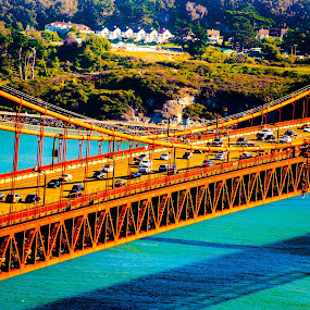 by Raymond Bordeaux - Buildings & Architecture Bridges & Suspended Structures ( golden gate bridge, lines, bridge, travel, san francisco,  )