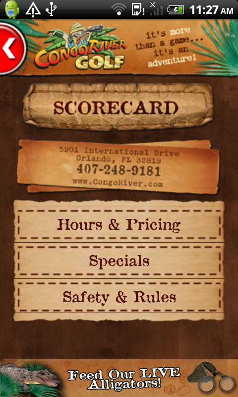 Congo River Golf Scorecard App- screenshot