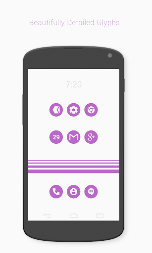 FlatCons Purple Icon Pack