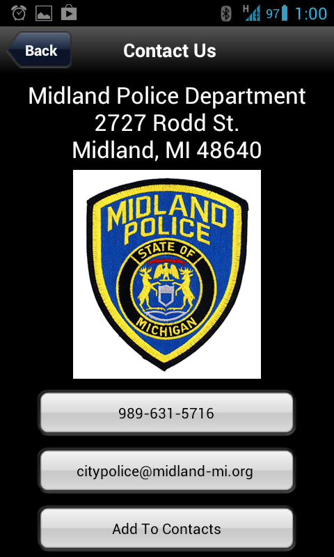 Midland Police Department- screenshot