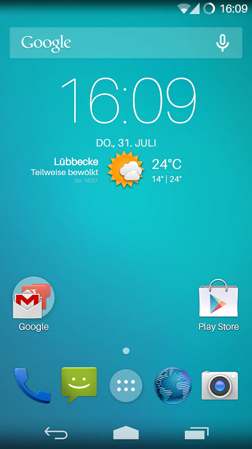 Flat Transparency Theme- screenshot