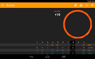 Screenshot of Rounds — score pad