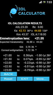 IOL CALCULATOR - screenshot thumbnail