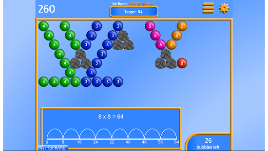 Bubble Pop Multiplication Free- screenshot thumbnail
