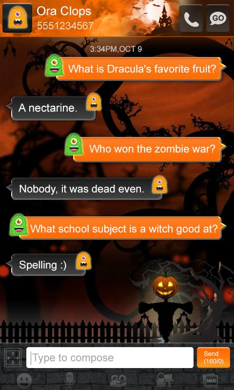 Monster Halloween GO SMS Theme- screenshot