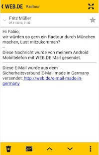 WEB.DE Mail - screenshot thumbnail