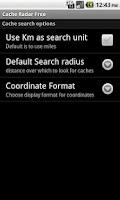 Screenshot of Cache Radar