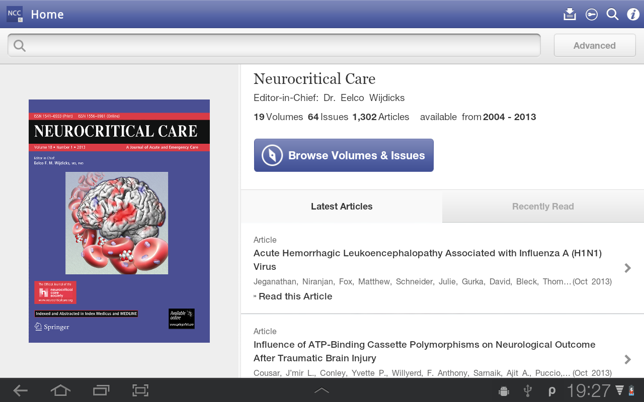 Neurocritical Care- screenshot