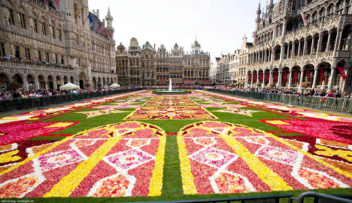 grand-palace-brussels-belgium - The Grand Place, or Grote Market, is the central square of Brussels, Belgium.