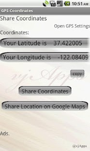 GPS Coordinates GPS Location - screenshot thumbnail
