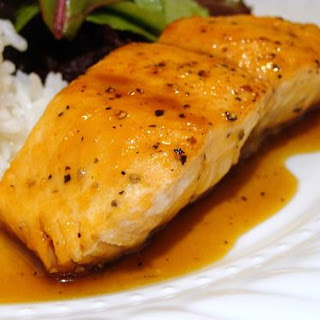 Orange & Soy Glazed Salmon