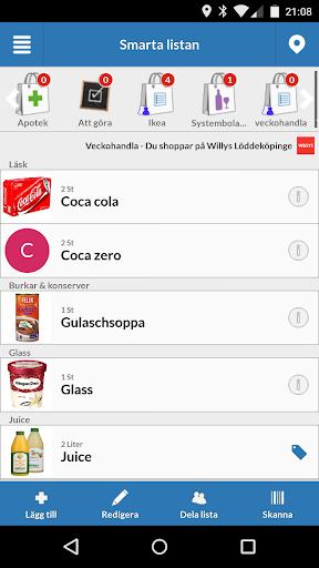 Smarta Listan - Shoppinglista