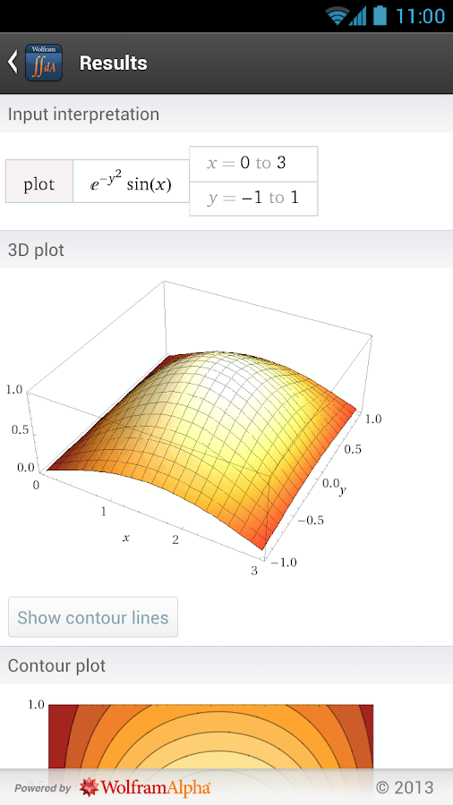 Multivariable Calculus App- screenshot