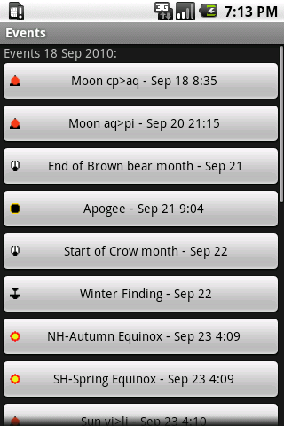 Pagan Calendar- screenshot