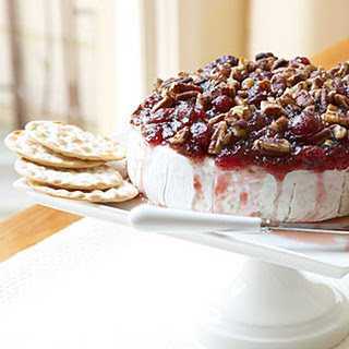 Warmed Cranberry Brie.