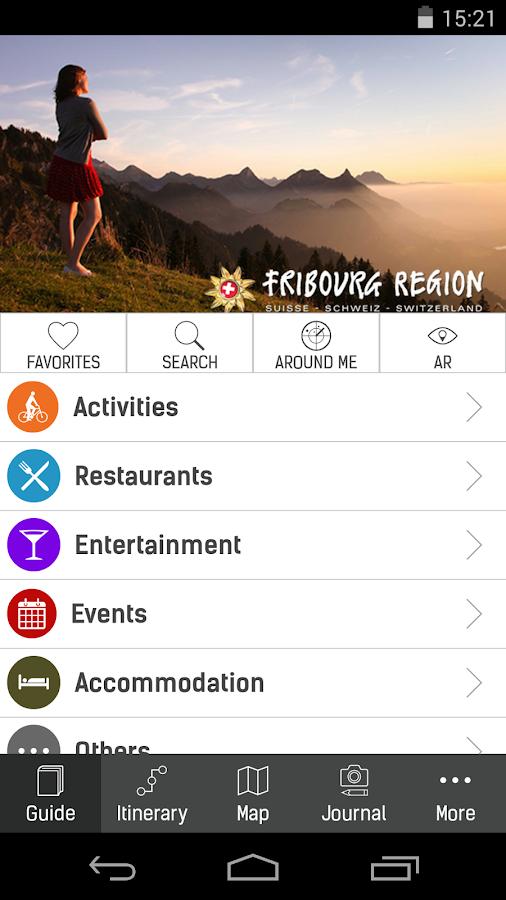 FRIBOURG REGION - screenshot