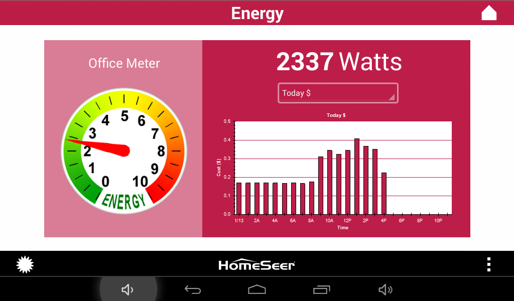 HS3Touch Home Automation- screenshot