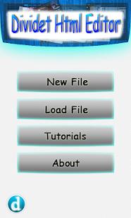 Dividet HTML Editor Lite- screenshot thumbnail